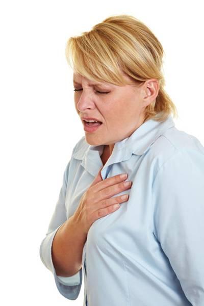 mulher infarte
