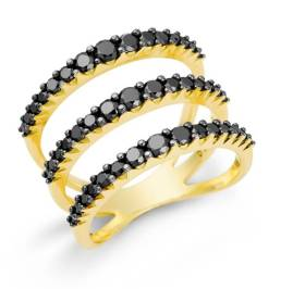 Arpege - Anel Anel Ouro amarelo com diamantes negros R$4.990