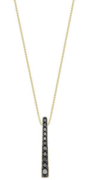 Arpege - Berloque Brinco Ouro amarelo com diamantes negros R$1.990