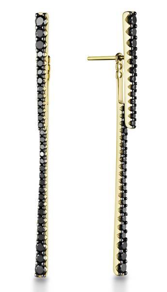 Arpege - Brinco Ouro amarelo com diamantes negros R$ 1.690