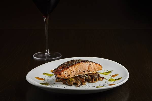 Fleming's Steakhouse - special salmon filet