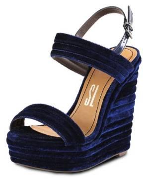 sandalia azul santa lolla