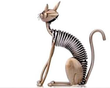 gato escultura