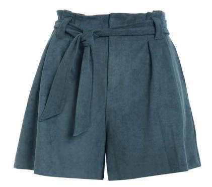 Le Lis Blanc - Shorts Julie Clochard Suede Cosmos - R$ 659,90