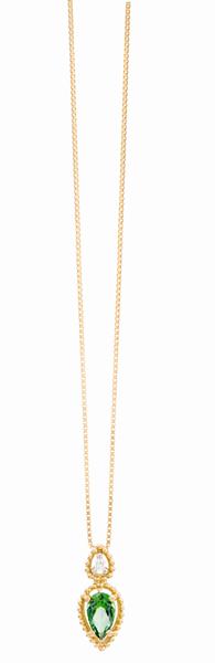 15efbc65f09 Coleção Believe – Pingente em Ouro amarelo com Diamante e Topázio ...