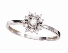 Coleção Shine - Anel maior em ouro branco e Diamantes