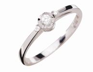 Coleção Shine - Anel medio em ouro branco e Diamantes