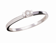 Coleção Shine - Anel menor em ouro branco e Diamantes