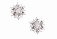 Coleção Shine - Brinco maior em ouro branco e Diamantes