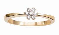 Coleção True - Anel em Ouro amarelo com Diamantes