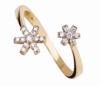Coleção True - Anel maior em Ouro amarelo com Diamantes
