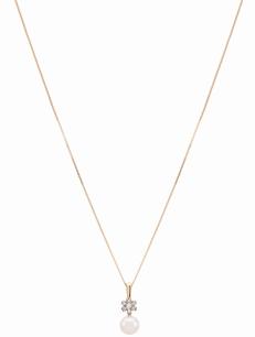 Coleção True - Pingente em Ouro amarelo com Diamantes e Pérola