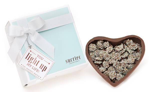 Sucrier - Caixa com coração dragees R$ 90,00