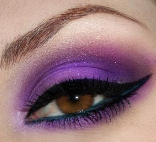 make purple olhos maquiagem sombra roxa pinterest