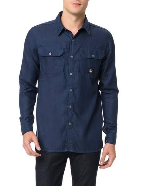 Camisa-Calvin-Klein-Jeans-Marinho