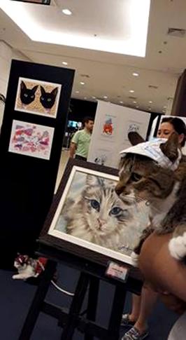 exposicao pintando gatos