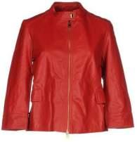 jaqueta couro vermelho shopstyle