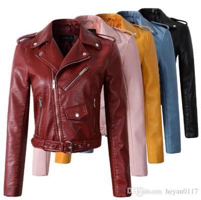 jaquetas couro coloridas DHgate
