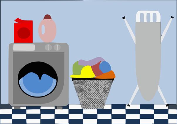 lavanderia maquina de lavar tabua de passar pixabay