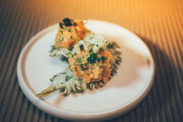shissô tempurá com spicy tuna