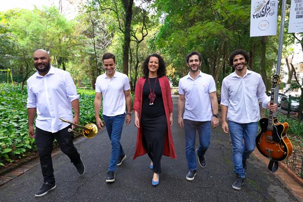 Jorginho Neto, Guilherme Berenguer, Karine Aguiar, Anuar Tacach e Felipe Garcia