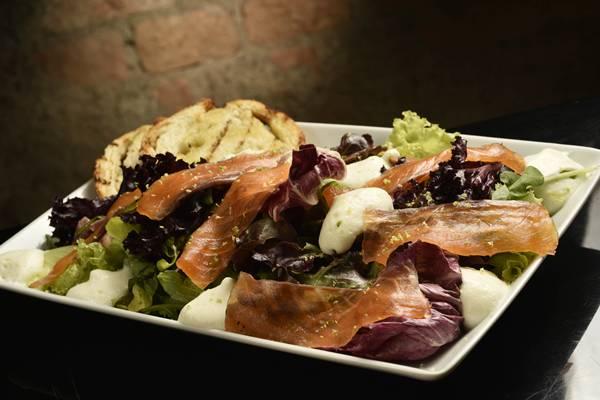 salmão salada