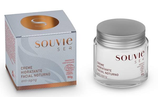Creme Hidratante Facial Noturno Anti-Aging Orgânico Certificado – Linha Ser+ R$ 138,00