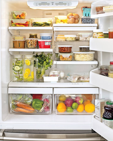 geladeira aberta