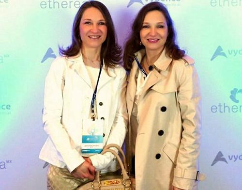 Na foto Leila Cristina Cavalin Alves e Cíntia Andréa Cavalin de Magalhães Calvet