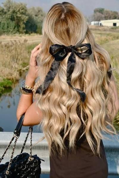 cabelo com laço