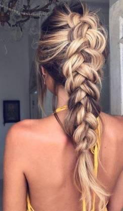 trança cabelos loiros