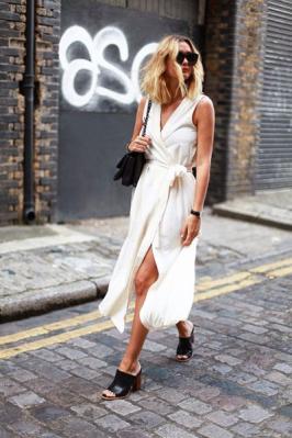 wrap dress branco