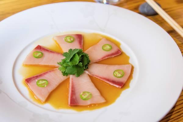 Yellowtail Sashimi with Jalapeño nobu