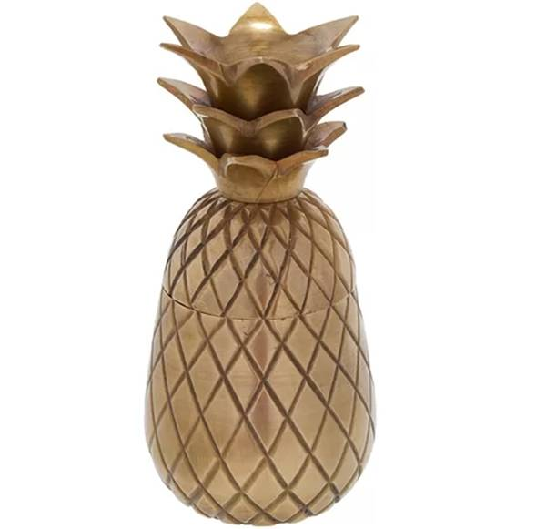 camicado_abacaxi decorativo Étnica dore 11cm