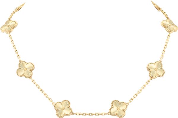 van cleef&arpels_colar_vintage_alhambra_ouro amarelo guilhochê_r$49.600,00 (2)