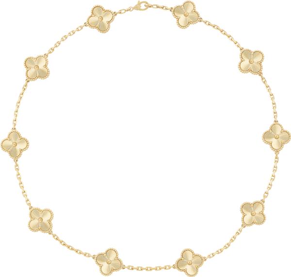 van cleef&arpels_colar_vintage_alhambra_ouro amarelo guilhochê_r$49.600,00