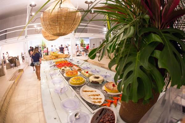 Buffet do Pratagy Beach All Inclusive Resort, de Maceió - Alagoas