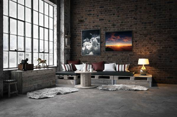 Industrial-Style Domestic Room