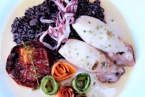 Calamares e arroz negro 2