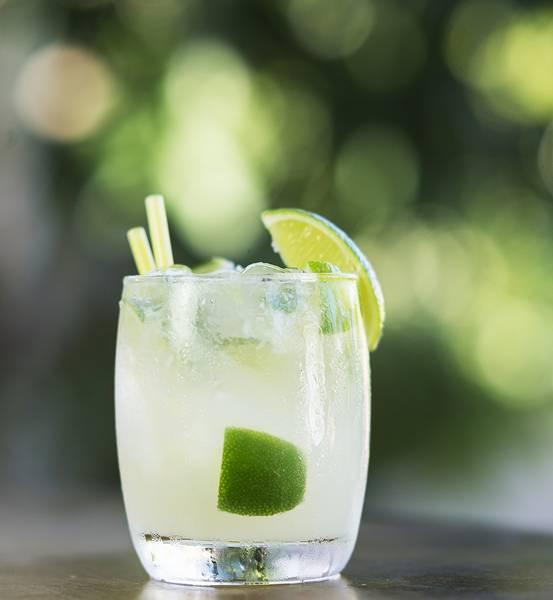 caipirinha rum and lime brazilian cocktail drink