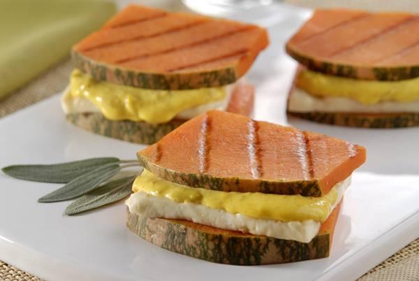 sanduiche rustico de abobora