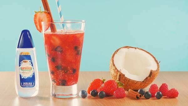 Frutas vermelhas e canela