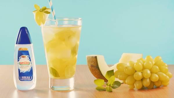 melão e uva verde