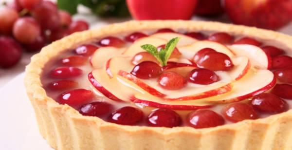 torta de maça e uva