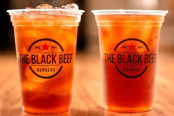 black beef chá gelado
