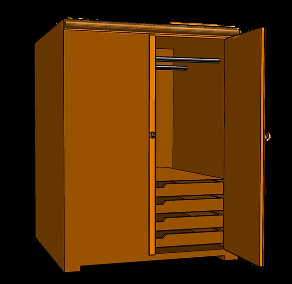 armário aberto desenho pixabay