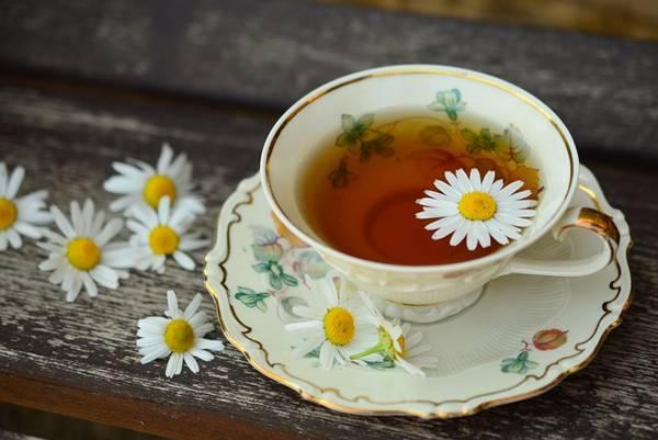 chá com flores