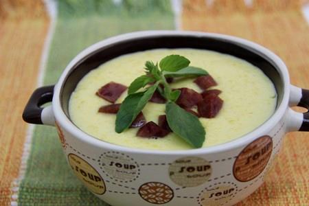 sopa milho com batata e calabresa