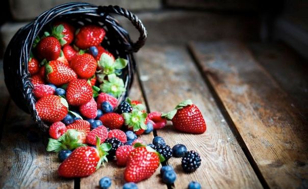 alimentos frutas vermelhas