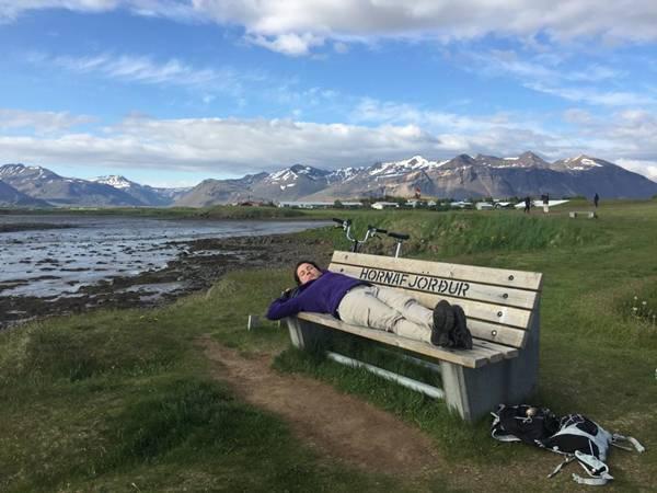 DENISE NA ISLANDIA DE BIKE